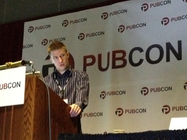 Brian Chappell at Pubcon Vegas 2011