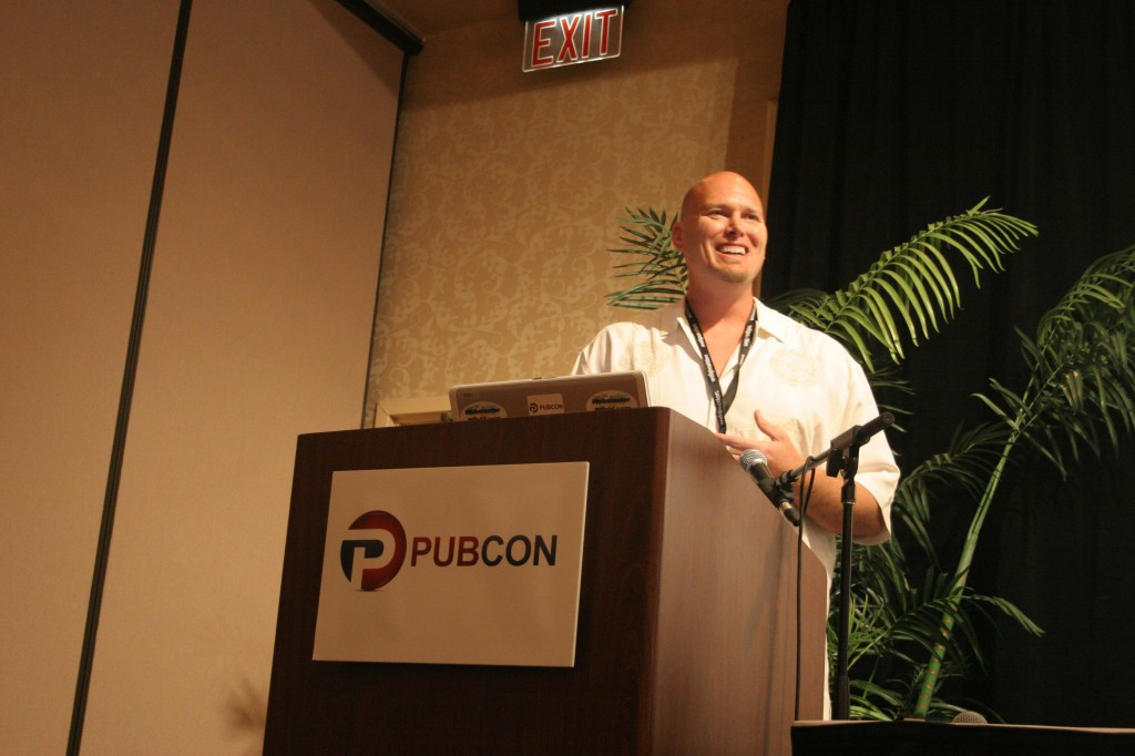 Brian McDowell speaking at Pubcon Hawaii