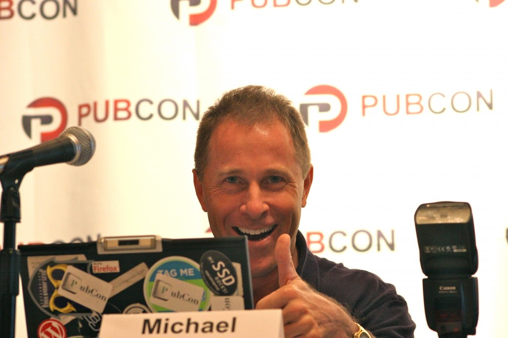 Michael Dorausch speaking at Pubcon